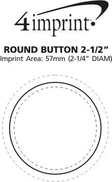 "Imprint Area of Round Button - 2-1/2"""