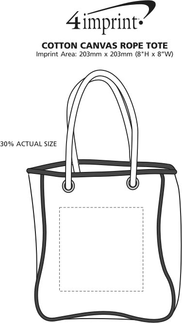Imprint Area of Rope Tote
