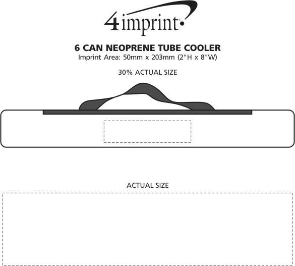 Imprint Area of 6-Can Neoprene Tube Cooler