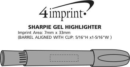 Imprint Area of Sharpie Gel Highlighter