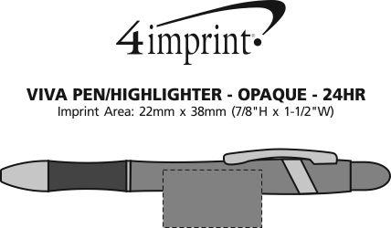 Imprint Area of Viva Pen/Highlighter - Opaque - 24 hr