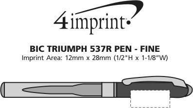 Imprint Area of Bic Triumph 537R Pen - Fine