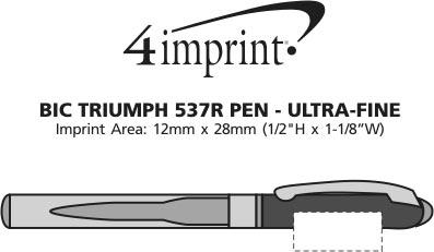 Imprint Area of Bic Triumph 537R Pen - Ultra-Fine