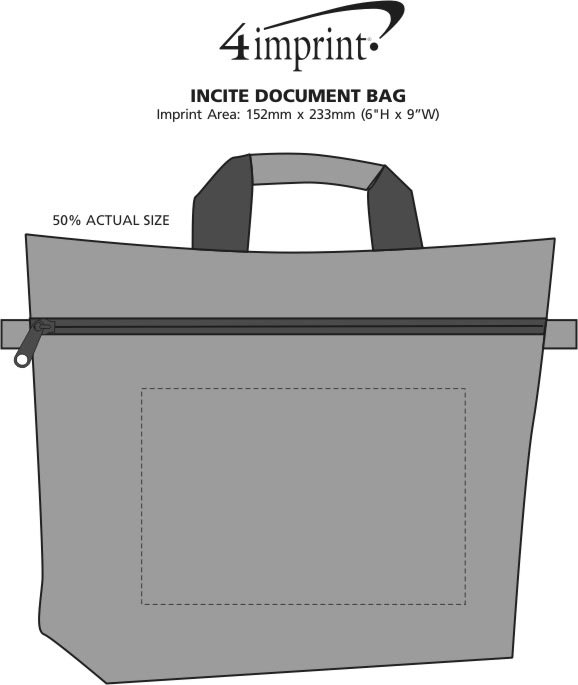 Imprint Area of Incite Document Bag