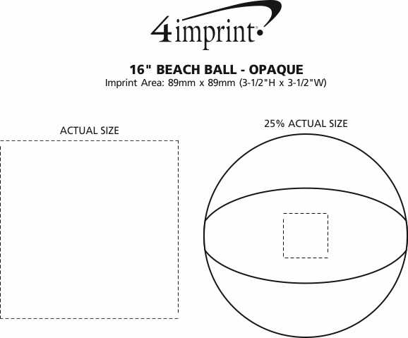 "Imprint Area of 16"" Beach Ball - Opaque"