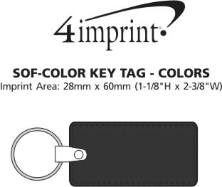 Imprint Area of Sof-Color Keychain - Colours