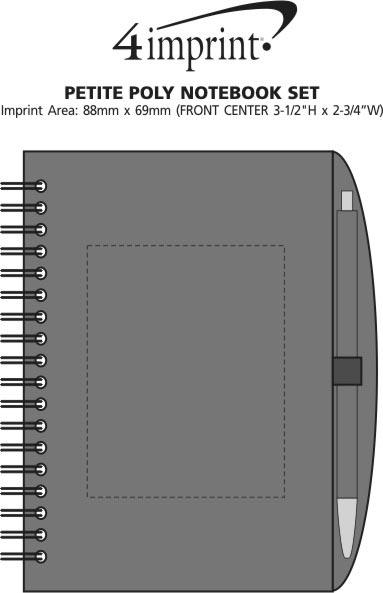 Imprint Area of Petite Poly Notebook Set