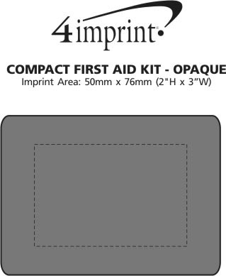 Imprint Area of Compact First Aid Kit - Opaque