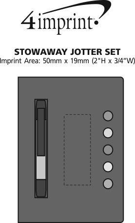 Imprint Area of Stowaway Jotter Set
