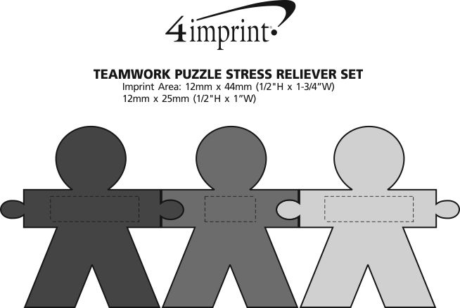 Imprint Area of Teamwork Puzzle Stress Reliever Set