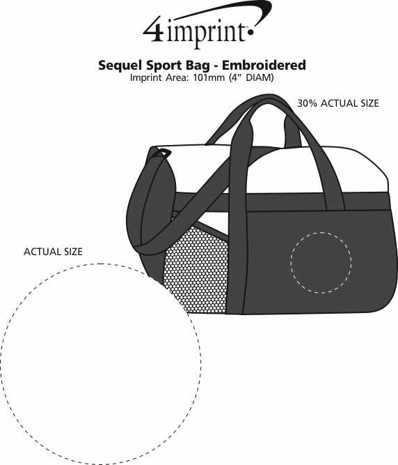 Imprint Area of Sequel Sport Bag - Embroidered