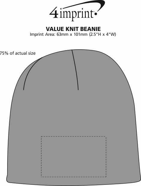 Imprint Area of Benton Knit Beanie