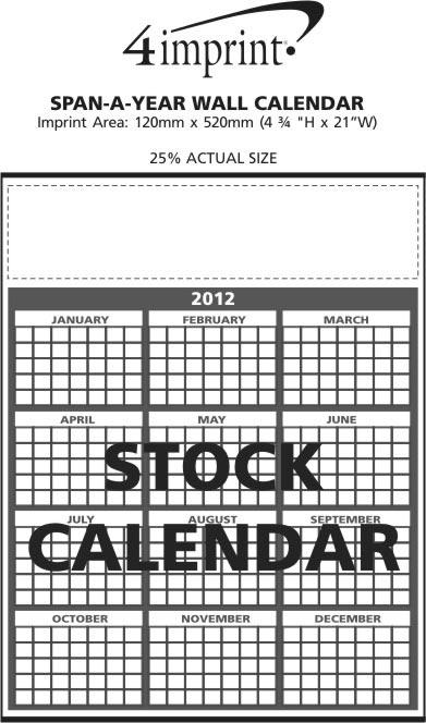 Imprint Area of Span-A-Year Wall Calendar