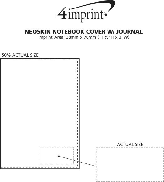 Imprint Area of Neoskin Notebook Cover with Journal
