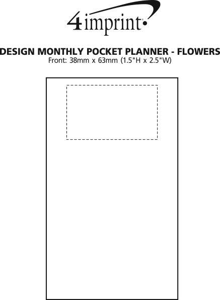 Imprint Area of Design Monthly Pocket Planner - Flowers