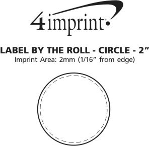 """Imprint Area of Value Stickers by the Roll - Circle - 2"""""""