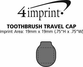 Imprint Area of Toothbrush Travel Cap