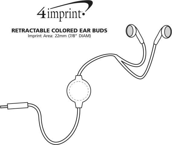 Imprint Area of Retractable Coloured Ear Buds