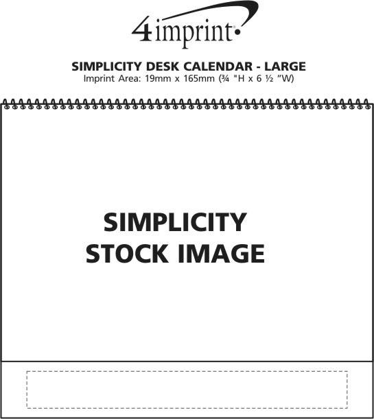 Imprint Area of Simplicity Large Desk Calendar