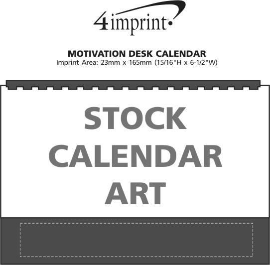 Imprint Area of Motivation Desk Calendar