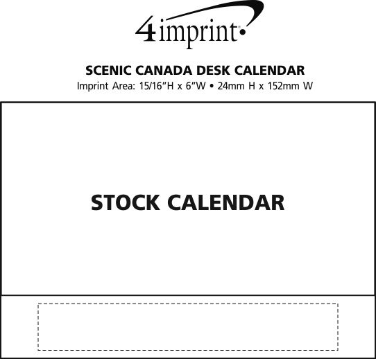 Imprint Area of Scenic Canada Desk Calendar