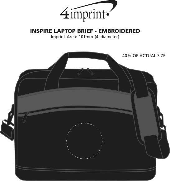 Imprint Area of Inspire Laptop Brief - Embroidered