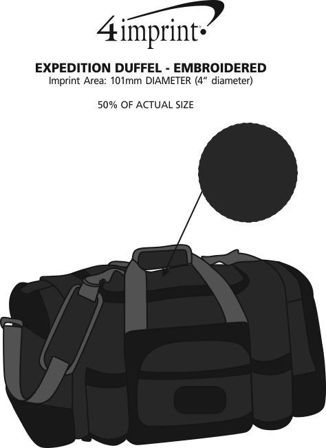 Imprint Area of Expedition Duffel - Embroidered
