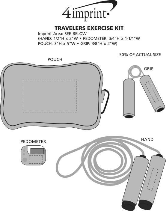 Imprint Area of Traveler Exercise Kit