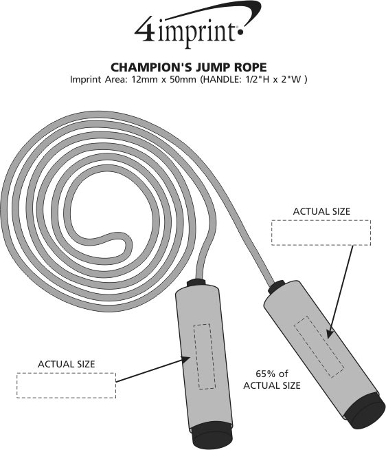 Imprint Area of Champion's Jump Rope