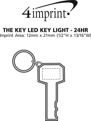 Imprint Area of The Key LED Key Light - 24 hr