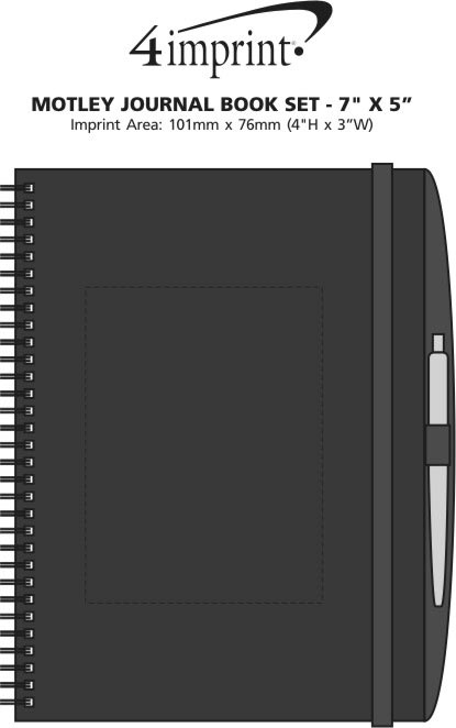 "Imprint Area of Motley Journal Book Set - 7"" x 5"""