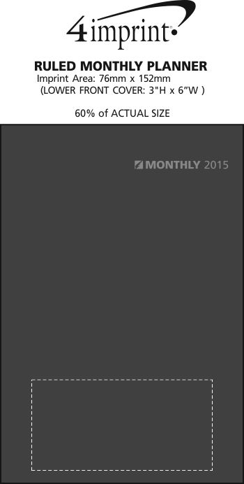 Imprint Area of Ruled Monthly Planner