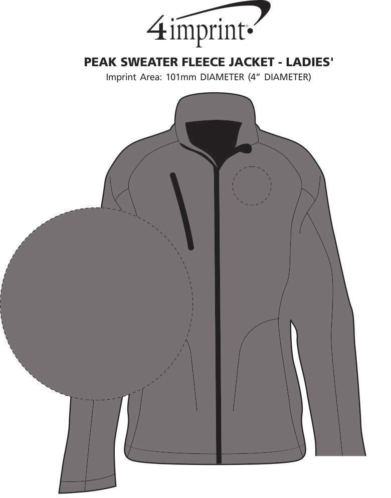 Imprint Area of Peak Sweater Fleece Jacket - Ladies'