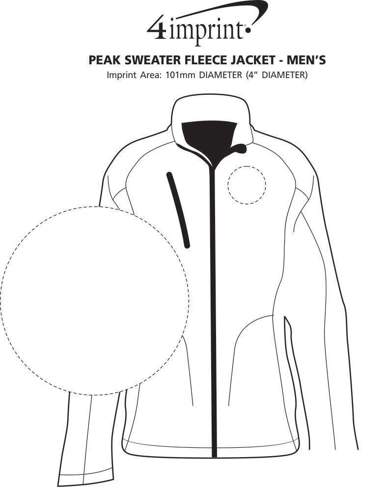 Imprint Area of Peak Sweater Fleece Jacket - Men's