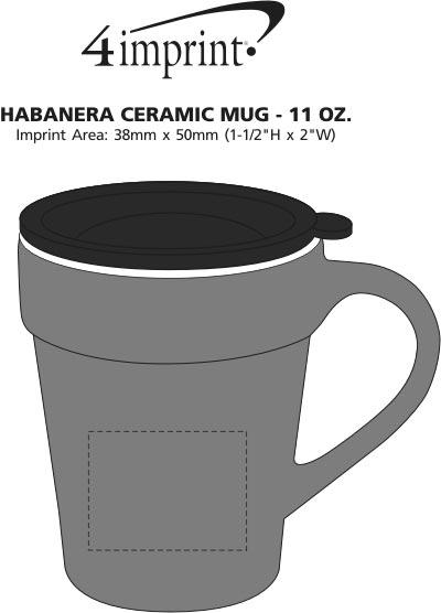 Imprint Area of Habanera Ceramic Mug - 11 oz.
