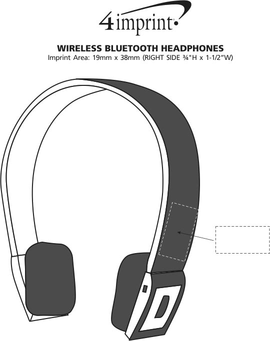 Imprint Area of Wireless Bluetooth Headphones