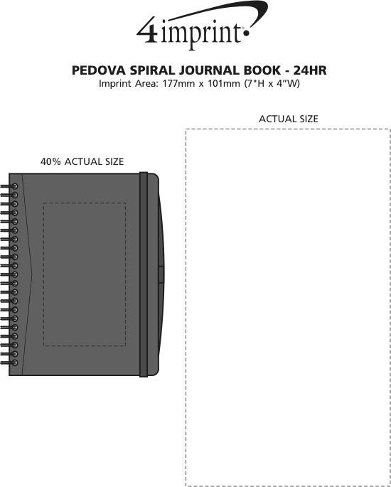 Imprint Area of Pedova Spiral Journal Book - 24 hr