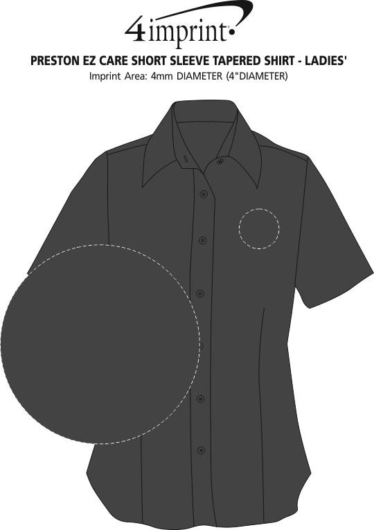Imprint Area of Preston EZ Care Short Sleeve Shirt - Ladies'