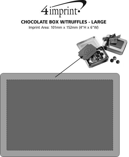 Imprint Area of Chocolate Box with Truffles - Large
