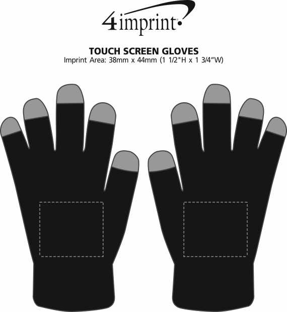 Imprint Area of Touch Screen Gloves