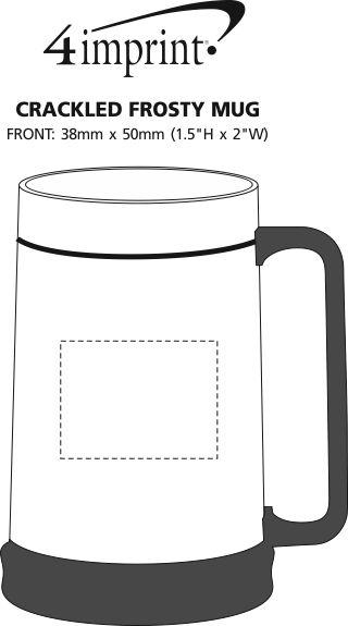 Imprint Area of Crackled Frosty Mug - 13.5 oz.
