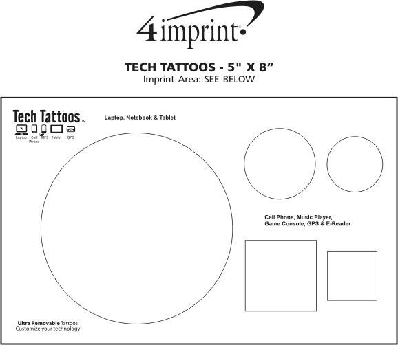 Imprint Area of Tech Tattoos - 5 x 8