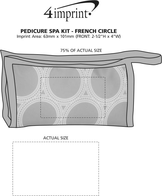 Imprint Area of Pedicure Spa Kit - French Circle