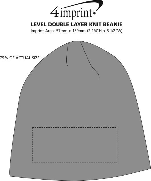 Imprint Area of Level Double Layer Knit Beanie