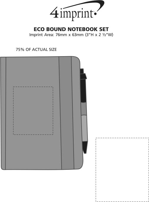 Imprint Area of Eco Bound Notebook Set