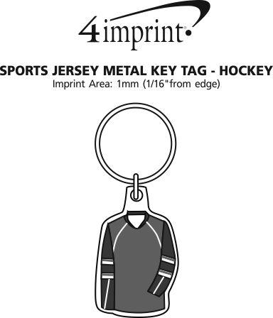 Imprint Area of Sports Jersey Metal Keychain - Hockey