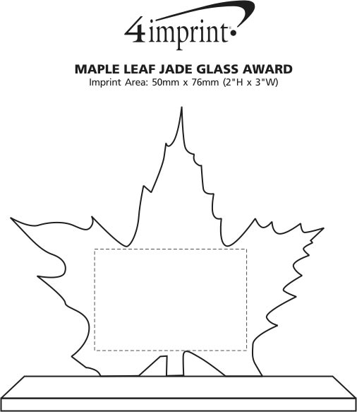 Imprint Area of Maple Leaf Jade Glass Award