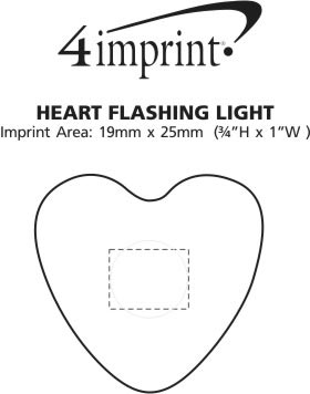Imprint Area of Heart Flashing Light