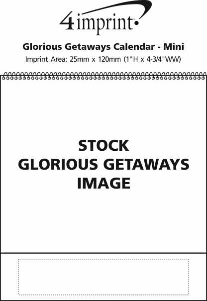 Imprint Area of Glorious Getaways Calendar - Mini