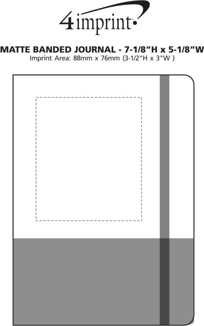 """Imprint Area of Matte Banded Journal - 7-1/8"""" x 5-1/8"""""""